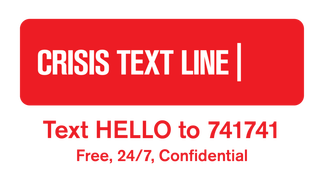 crisis text hotline, mental health usa